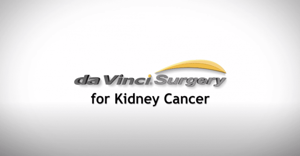 da Vinci Surgery Kidney Cancer General & Bariatric Surgery