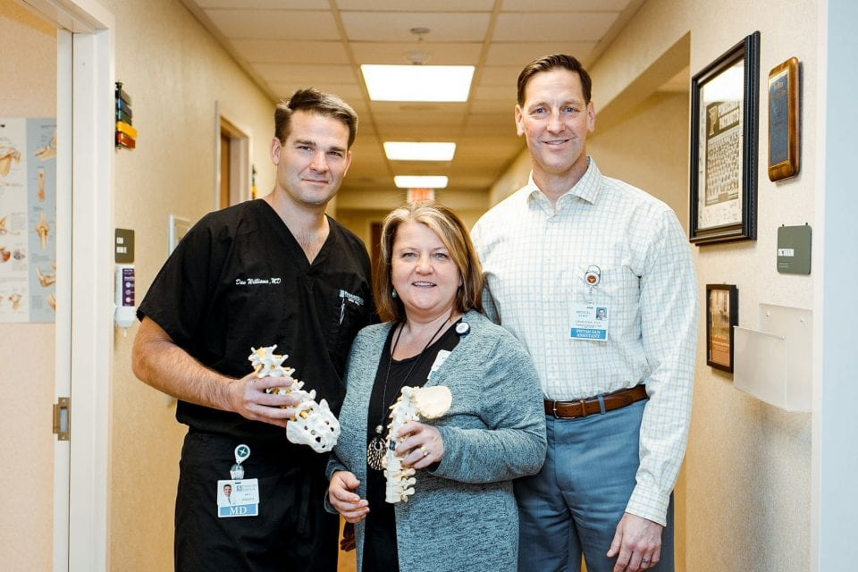 Daniel Williams Kristin Blatz Chad Cole Orthopaedic Surgery Spine Team